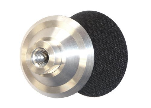2 Pieces of 4-Inch Aluminum Back Holder-5/8-11 Thread Hook and Loop velcro for Diamond Polishing Pads granite surface polishing travertine polishing countertop polishing concrete polishing