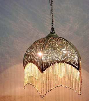 Br303 pierced brassmetal hanging dome scallop moroccan lamp shade br303 pierced brassmetal hanging dome scallop moroccan lamp shade mozeypictures Image collections