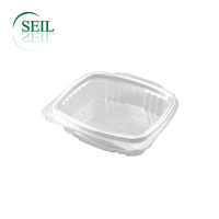Hinged food container, Clear PET take away container,Clamshell container Takeaway togo box, Disposable food packaging container
