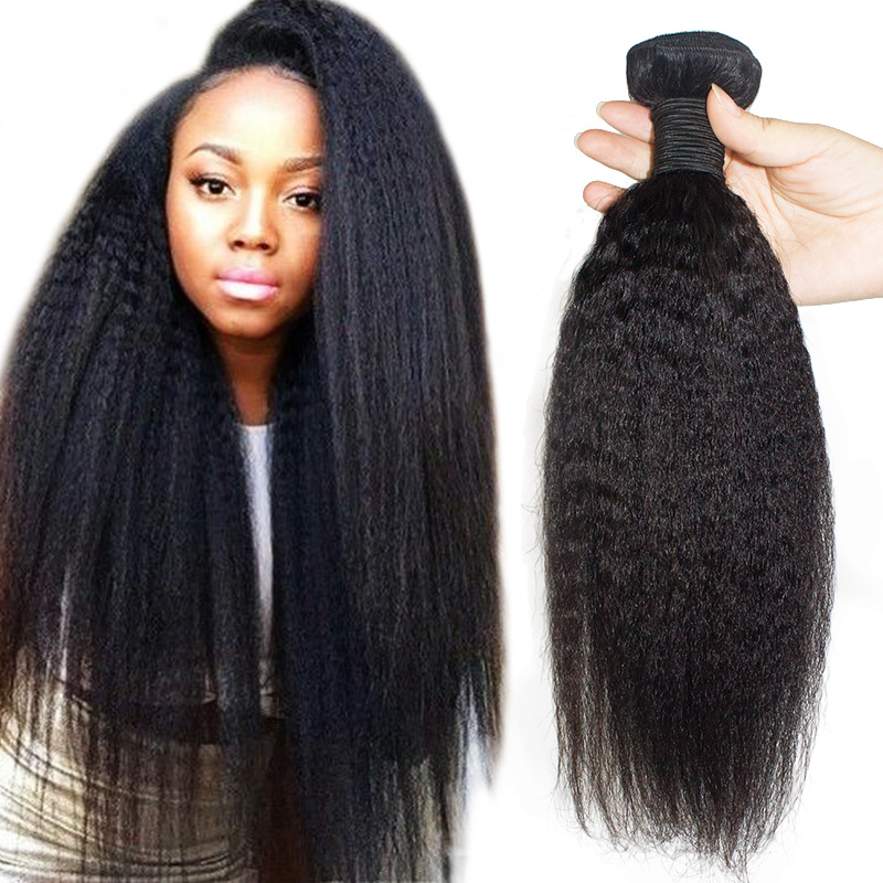 10A grade Kinky Straight yaki braiding 100% human hair Bulk Human Hair and frontal