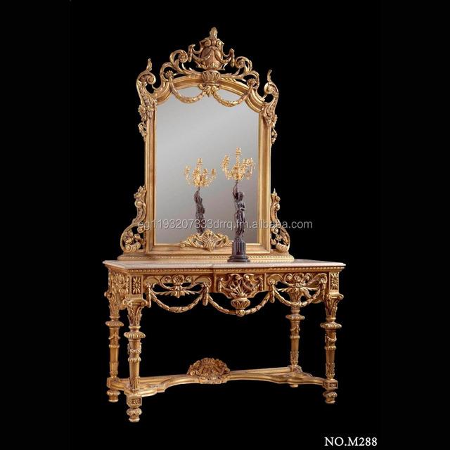 Italienische Neoklassischen Konsole Mit Spiegel Buy Italienische Neoklassischen Konsole,Neoklassischen Barock Konsole,Geschnitzt Und Vergoldeten