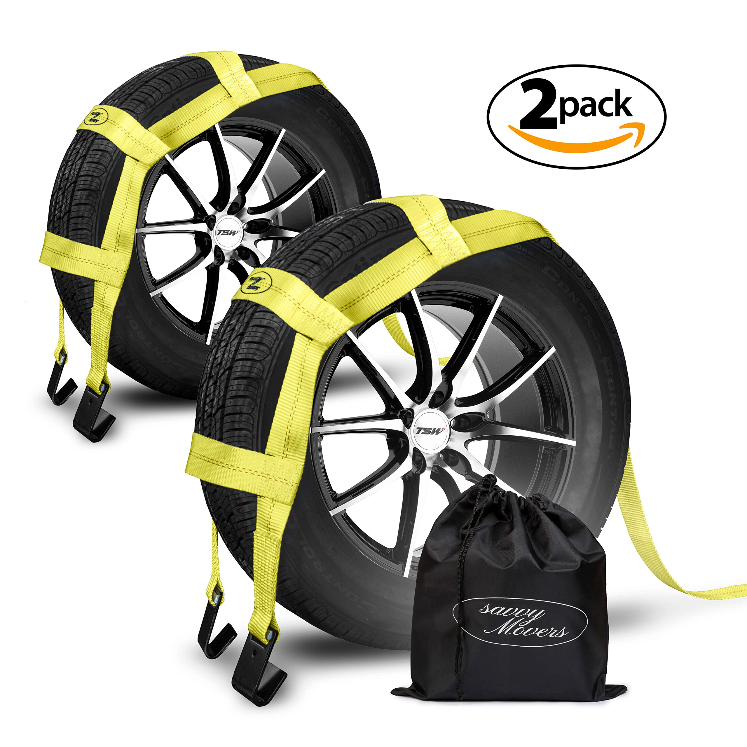 Get Quotations · Tow Dolly Straps with Flat Hooks & Carrying Bag (2 Pack) -  Essential Vehicle