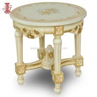 Round Chinese Coffee and Tea Table Wood Cafe Furniture