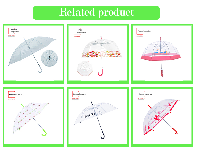Guangzhou Portable Folding Transparent Umbrella Material Foldable Three 3 Fold Transparent Umbrella With Logo Prints