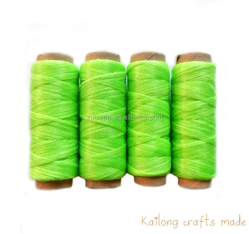 25Yards Nhân Tạo SINEW Thread Polyester Leatherworking, Bookbinding Thread