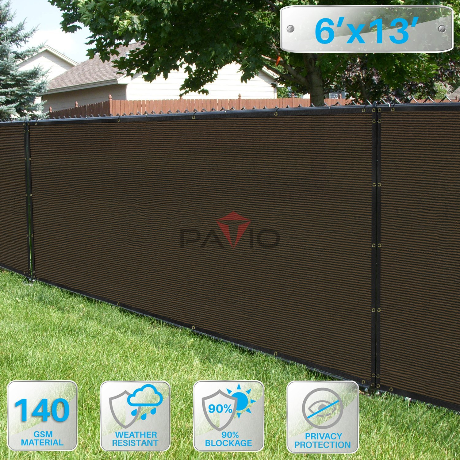 Get Quotations · PATIO 6' x 13' Privacy Screen Fence in Brown, Commercial  Grand Mesh Shade - Cheap Portable Patio Fence, Find Portable Patio Fence Deals On Line