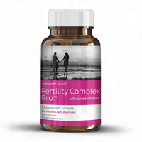UK Beauty House Fertility Complex Female Male Hair Food Supplement Tablets Brown Round Premium Bottle Wholesale Diet Supplements