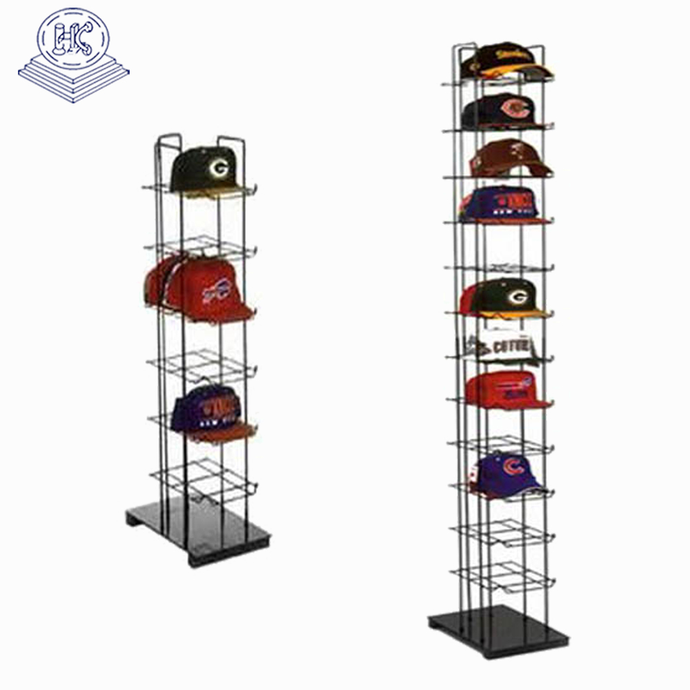Retail Store 4 Tier Wire cap shelf