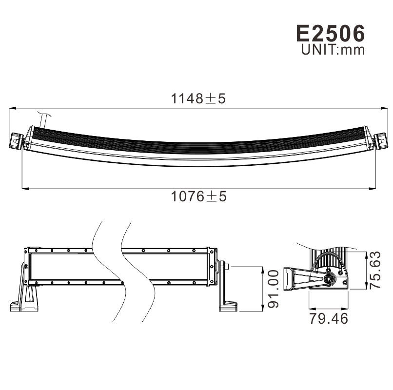 Curved 240w 4x4 offroad 42 inch led light bar