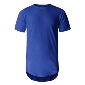 Men longline crew neck short sleeve t shirt