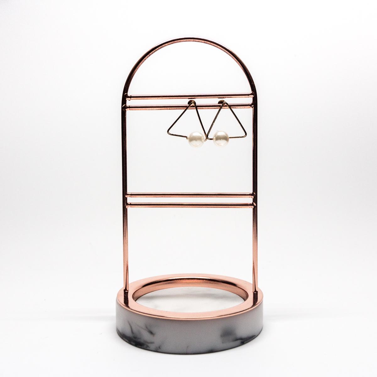Moda Jóias display rack com base de mármore