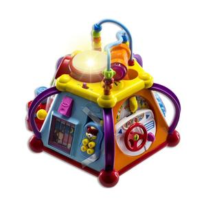 Educational Kids Toddler Baby Toy Musical Activity Cube Play Center with Lights, Lots of Functions and Skills for Learning