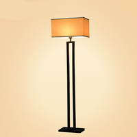 Guzhen Decorative Chrome/ Black Wrought Iron Chinese Style Modern Floor Lamp For Hotel