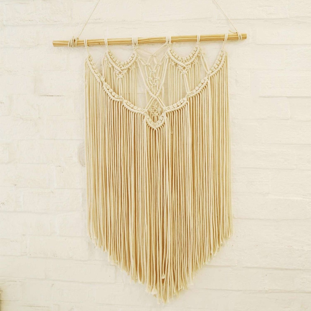 Wall art decor item/vintage macrame gehaakte gordijn muur opknoping