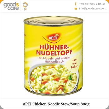 High Quality Delicious APTI Chicken Noodle Stew/Soup 800g