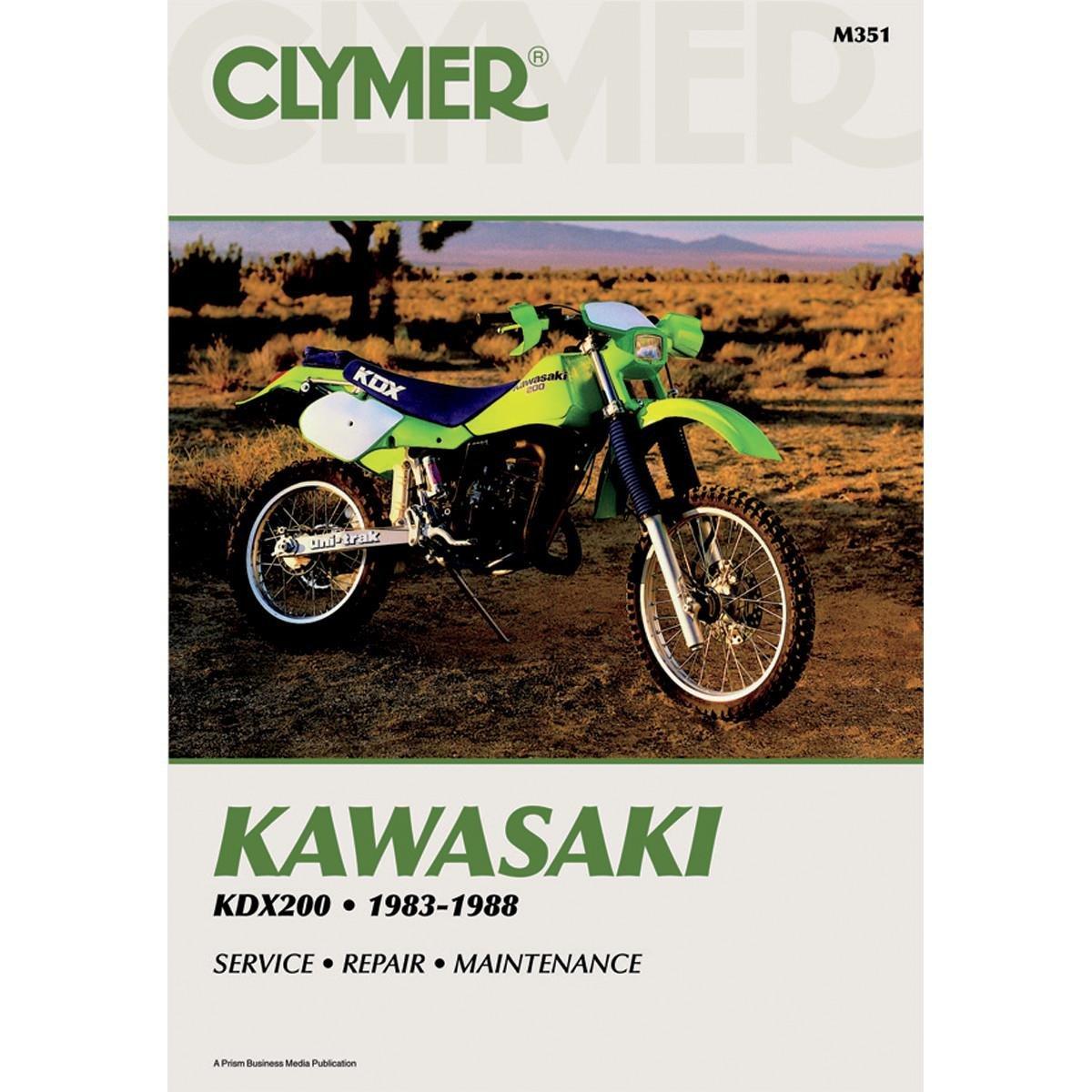 Get Quotations · Clymer Repair Manual for Kawasaki KDX200 KDX-200 83-88