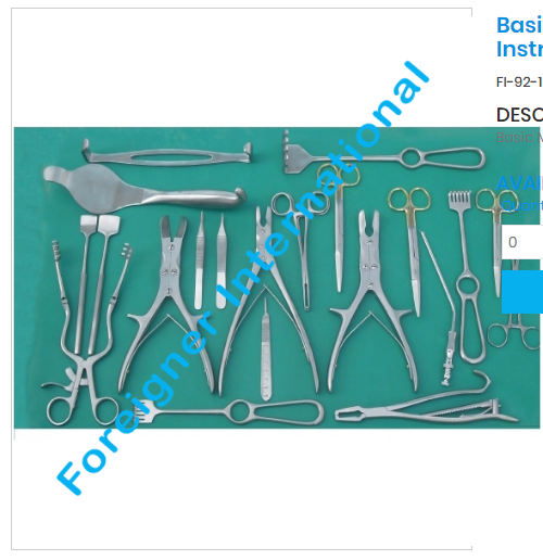 DHS/DCS orthopedic instruments set