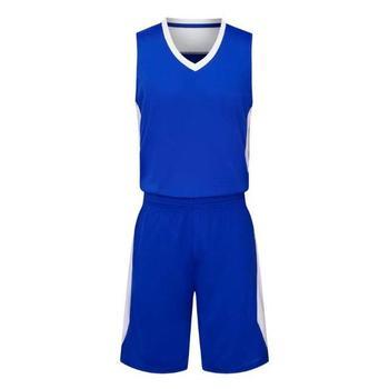 733c6115f 100% Polyester Custom Sublimated Blue Yellow Basketball Uniform ...