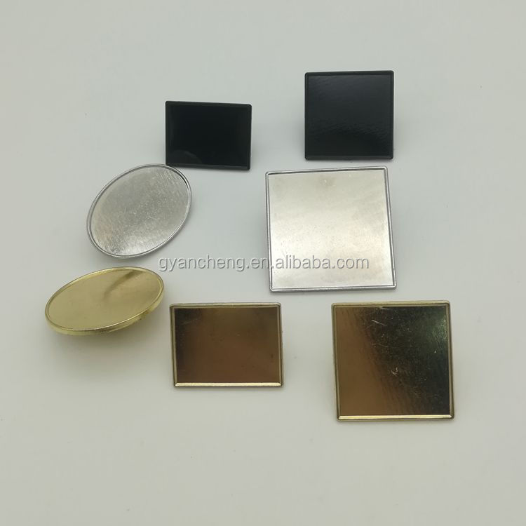 Circle Rectangle Black Silver Gold Metal Blank Coin for VIP Auto Souvenirs