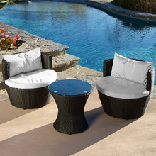 Modern Rattan Round Outdoor Furniture