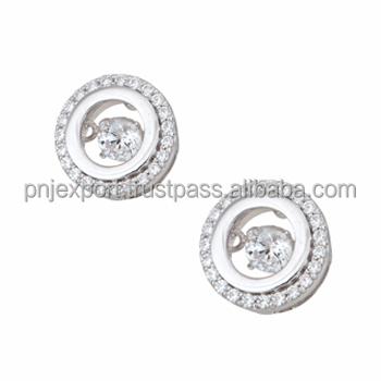 High Quality Diamond Jewelry Earrings Pendant Dancing Stone Pnj Brand Vietnam