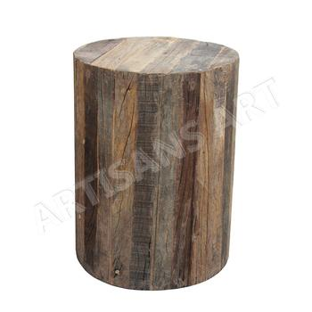 Peachy Vintage Custom Made Rustic Recycle Wood Round Stool Old Railway Sleeper Wood Timber Stool Outdoor Garden Stool Buy Reclaimed Wood Bar Stool Homemade Gmtry Best Dining Table And Chair Ideas Images Gmtryco