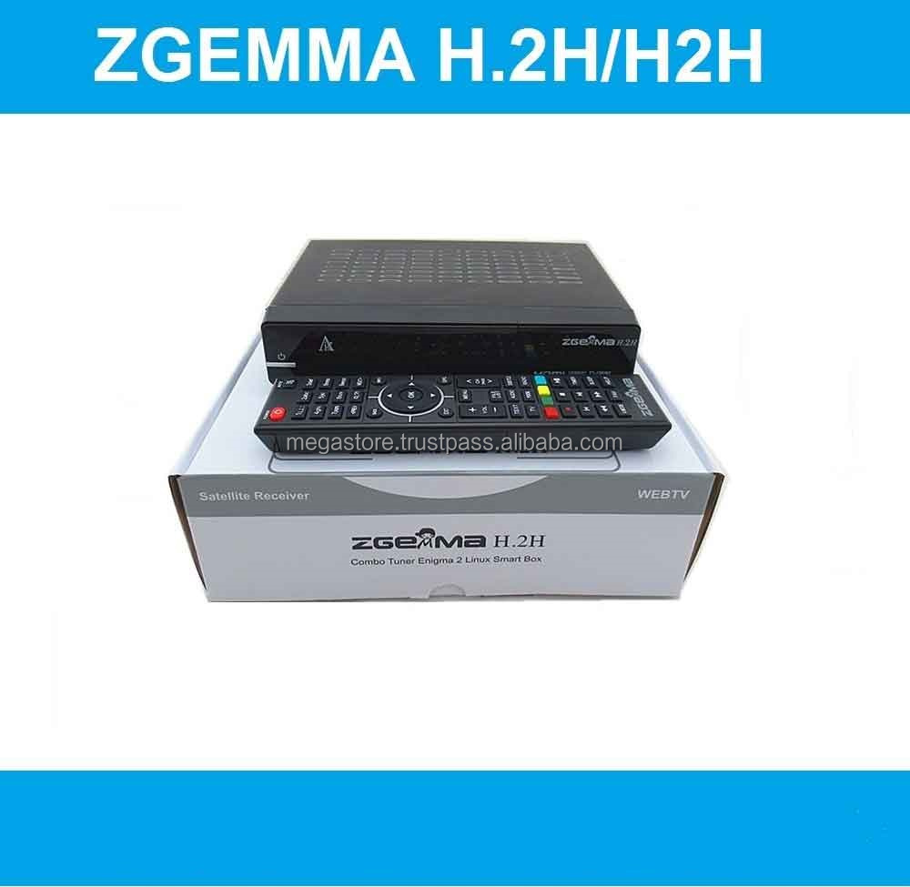 UK/Ireland Hot Sale Zgemma H.2H FTA Satellite/Cable Receiver Dual Core with DVB-S2 + T2/C Twin Tuners at Factory Price.