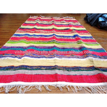 Cotton Chindi Rag Rug Floor Mat Recycled Throw Carpet Woven Runner Yoga Indian Product On Alibaba