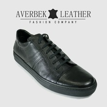 Men Black Casual Genuine Leather Shoes, New Wholesale Cup Sole Sneakers