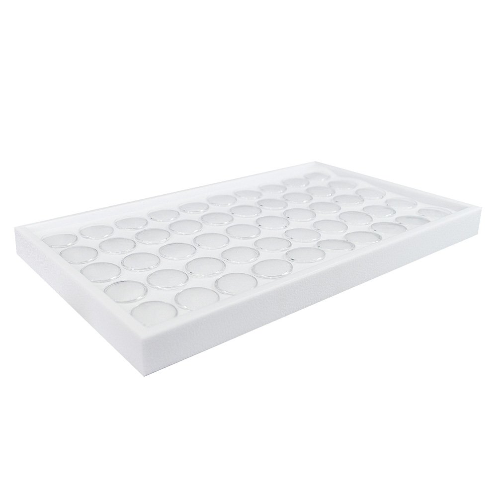 GEM TRAY STACKABLE FOR 50 GEM JARS WHT /& WHT TRAY