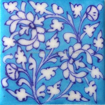 Flower Designs Home Decoration Blue Pottery Tiles Buy Small Decorative Tilesbathroom Tile Designflower Waterjet Marble Tiles Design Floor Pattern