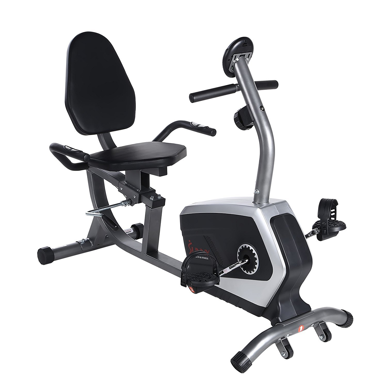ee6e529b87b Get Quotations · Sunny Health   Fitness Magnetic Recumbent Bike Exercise  Bike