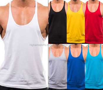 7d9351f4548596 Wholesale Blank Cotton Custom Mens Gym Stringer Tank Top - Buy ...