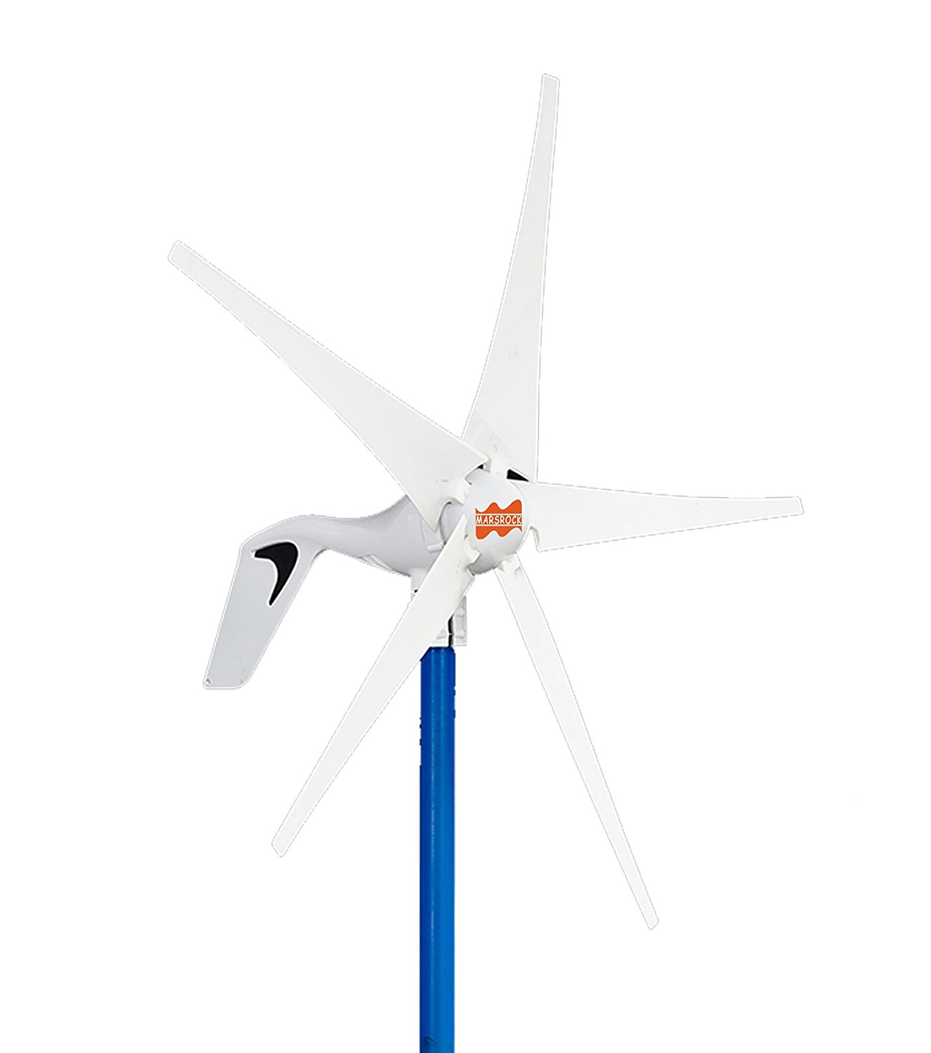 MarsRock Mini Wind Turbine DC 12V or 24V 5 Blades 400W 300W Wind Turbine Generator with built-in Rectifier module , 2M/S Start Wind Speed (400W)