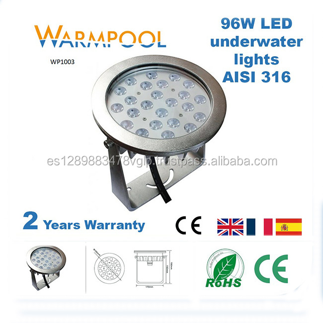 35-96W, 24*3W Led Pool Light With Remote Controller