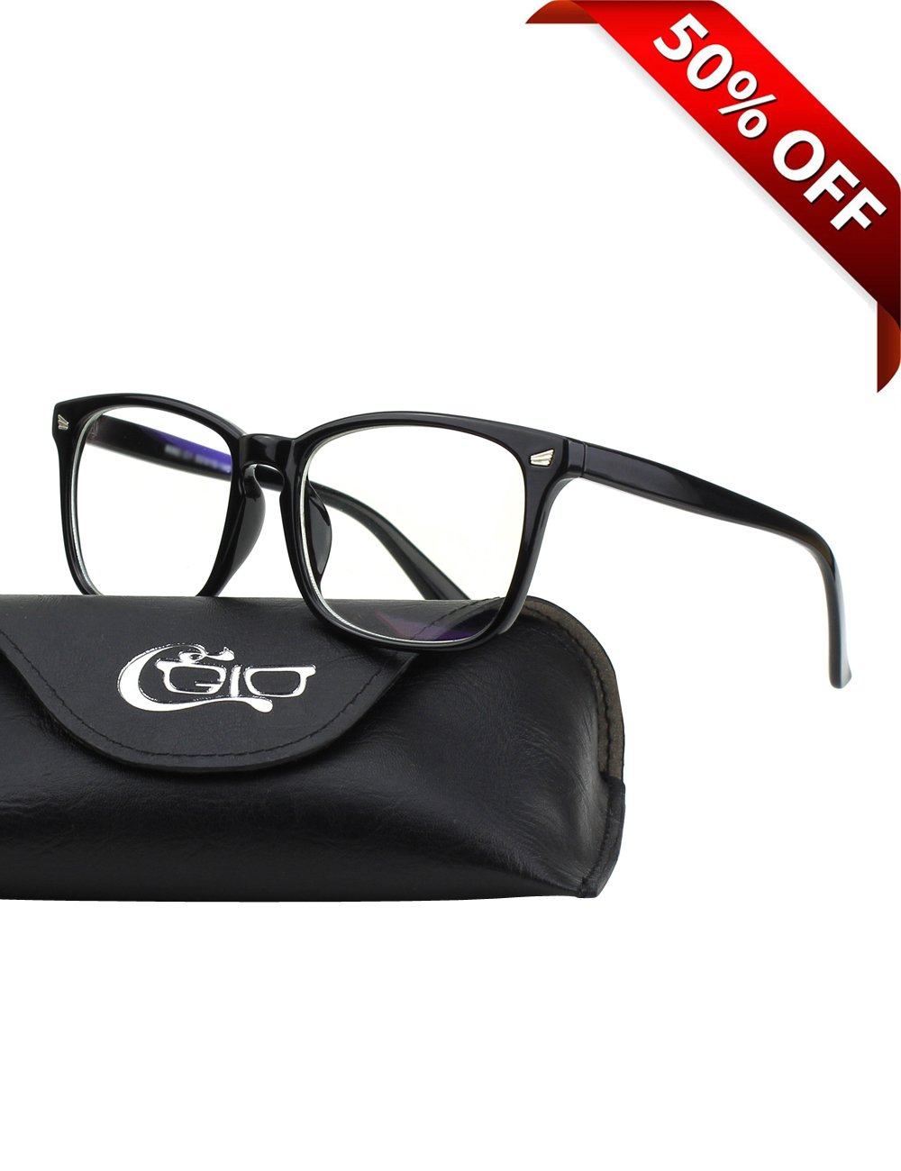 966f266325 Get Quotations · CGID CT82 Horn Oversized Blue Light Blocking Glasses