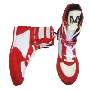 Red & White Premium Quality Latest Design Professional Boxing Shoes