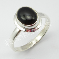 .925 Sterling Silver REAL BLACK ONYX MODERN Ring Size 9 Best Seller Latest Designs Custom Made China Jewelry Manufacturer