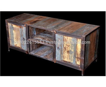 unique industrial furniture. Recycle Wood TV Unit Industrial Furniture Reclaimed Unique