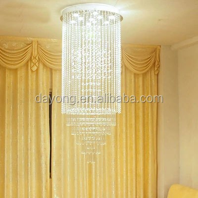 Gold Luxury Long Romantic Chandelier lamp for Ruby Living Room Hotel