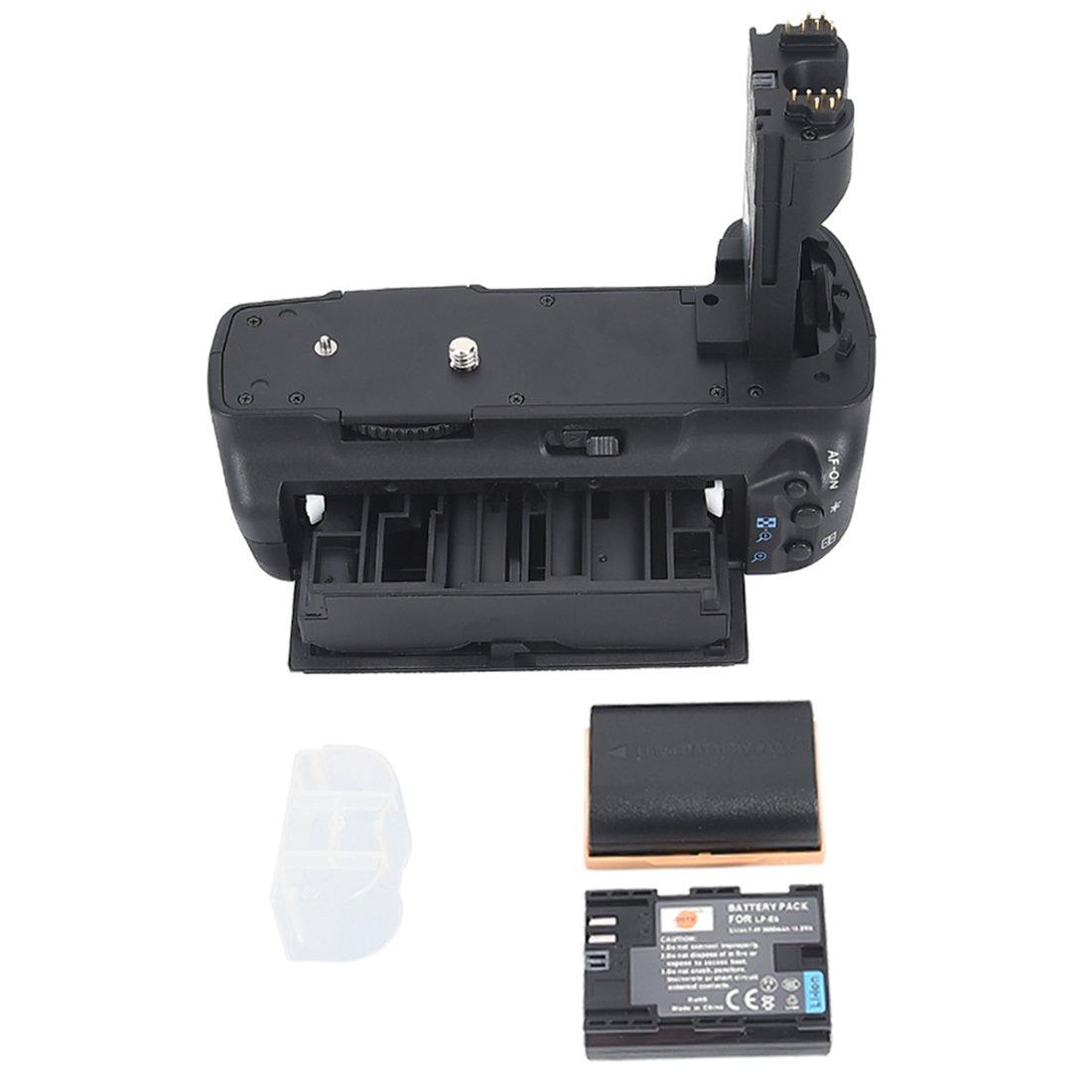 DSTE® Pro BG-E6 Vertical Battery Grip + 2x LP-E6 LP-E6N for Canon EOS 5D Mark II 5D2 SLR Digital Camera