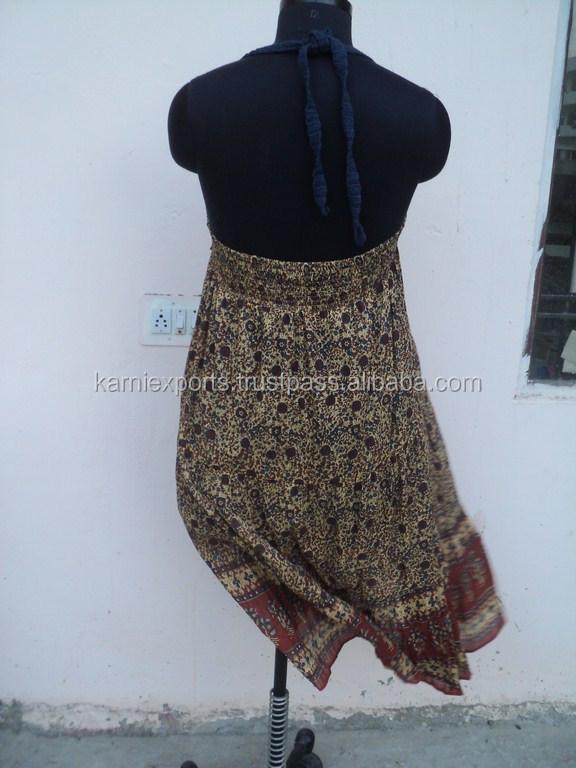 Vestidos largos en tela de algodon