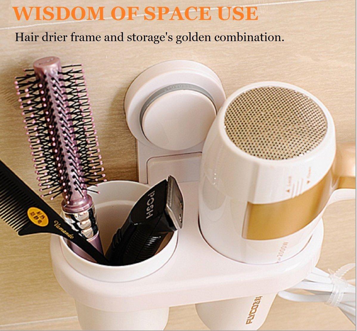 Hair Dryer Holder,Bathroom Hair Blow Dryer Holder,Hair Care Tools Holder for Hair Dryer, Flat And Straightener,Hair Dryer Organizer Storage,Bathroom Washroom Accessories Storage Organizer Set
