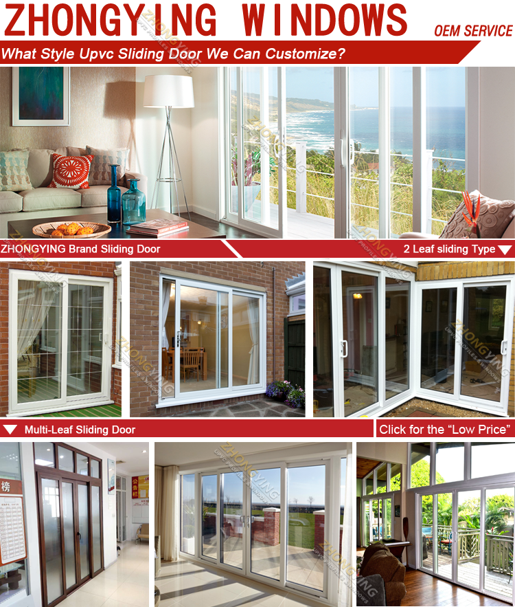 Frameless Exterior Patio Balcony Sliding Doors , Interior 4 Panel Louvered  French Doors Sliding