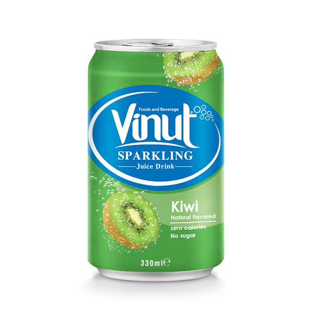 Halal, HACCP, ISO, Kosher 330ml Kiwi Sparkling Water Supplier Vietnam