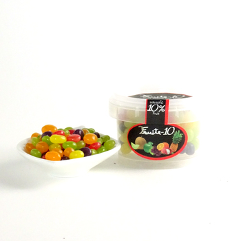 Halal Candy jelly bean 10% fruits candy Mix fruits flavoured
