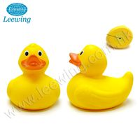 Hot Product PVC Phthalate Free Vinyl Bath Toy 15cm Extra Large Weighted Floating Yellow Rubber Big Duck