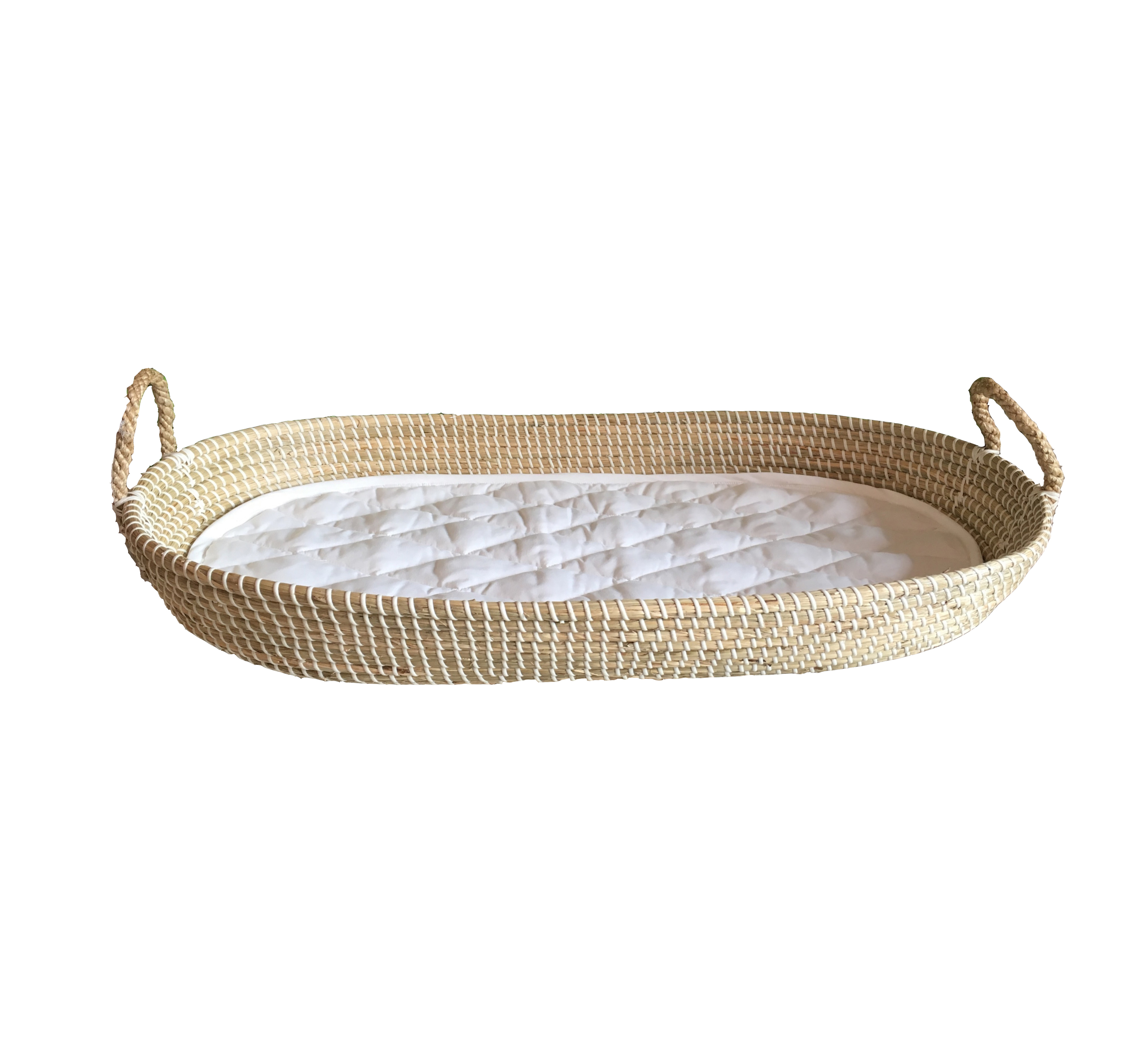 Seagrass change basket Baby change basket