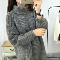 Manufacture High Quality New Design Knitted Woman Sweater Long Sleeves