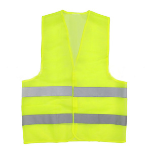 Factory Price Orange And Yellow Color Stock Polyester High 150D/300D Visibility Reflective Safety Vest